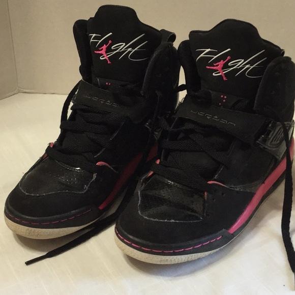buy online 12a2c 6e723 Nike flight Air Jordan Black & Pink 7 Youth